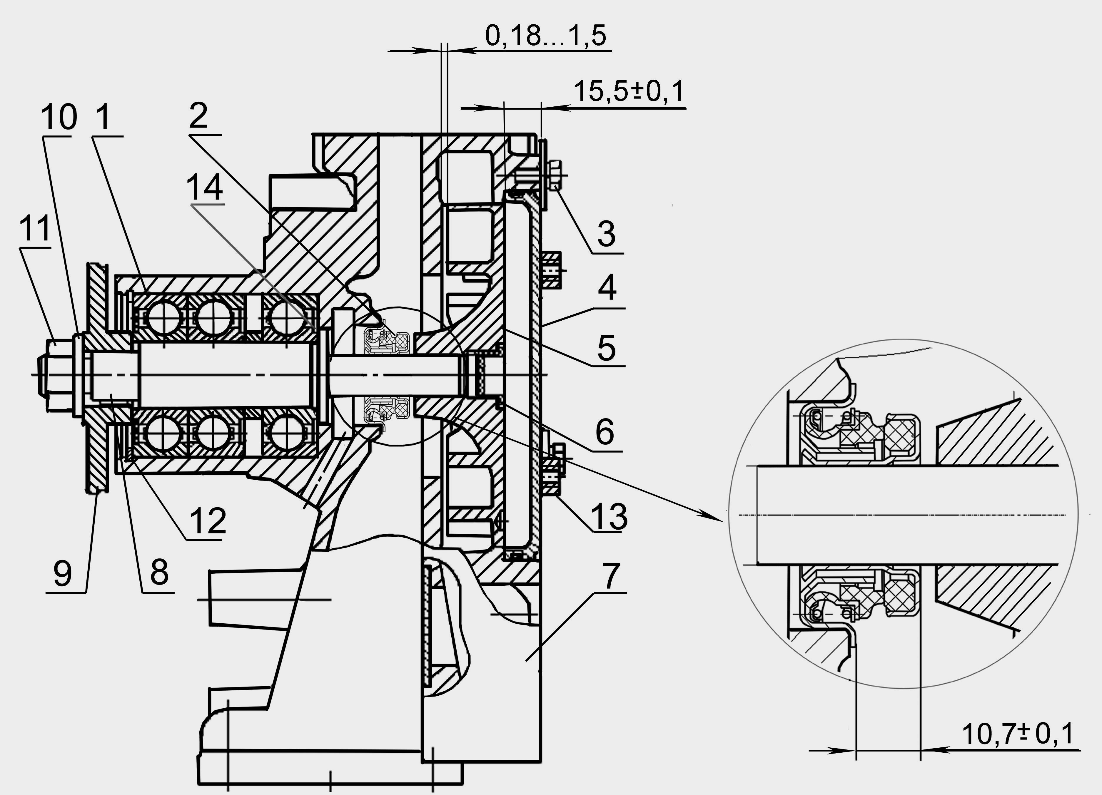Водяной насос (помпа) МТЗ-100, Д-260 (260-1307116-М): цена.