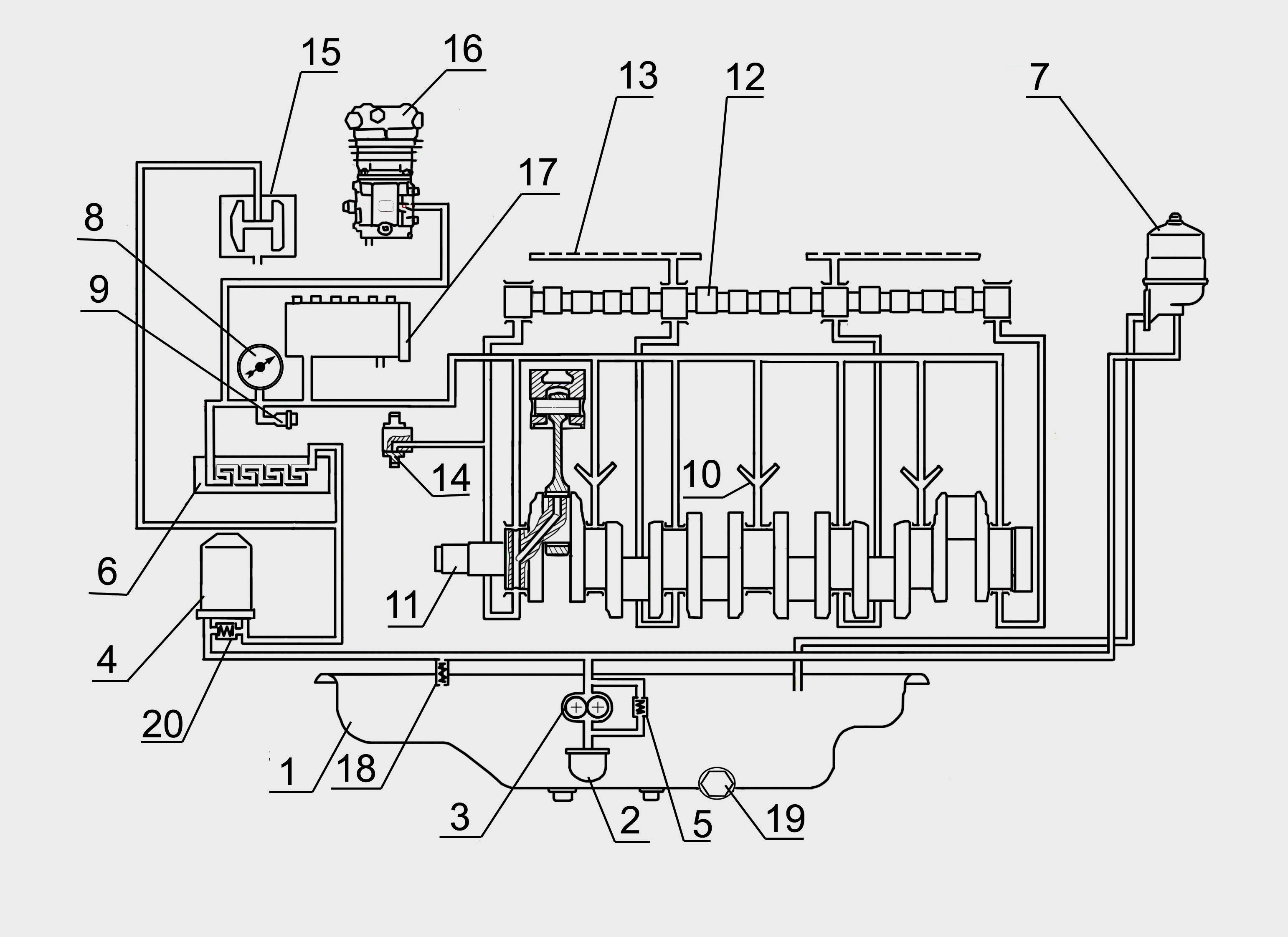 Схема системы смазки двигателя змз-53 кулибинск клуб.