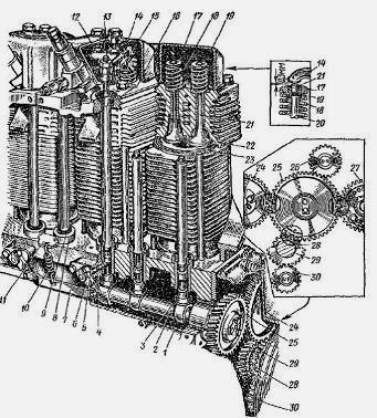 ГРМ двигателя Д-144 трактора